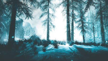 Snowfall - Skyrim by WatchTheSkiies
