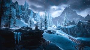 Over Snow One Winter's Morn - Skyrim
