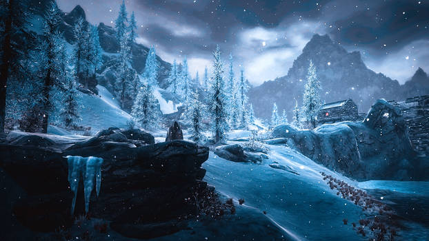 Over Snow One Winter's Morn - Skyrim