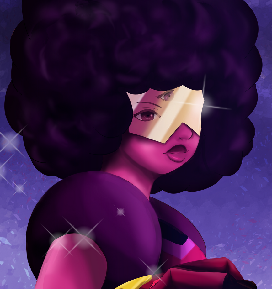 A digital speed painting of Garnet from Steven Universe