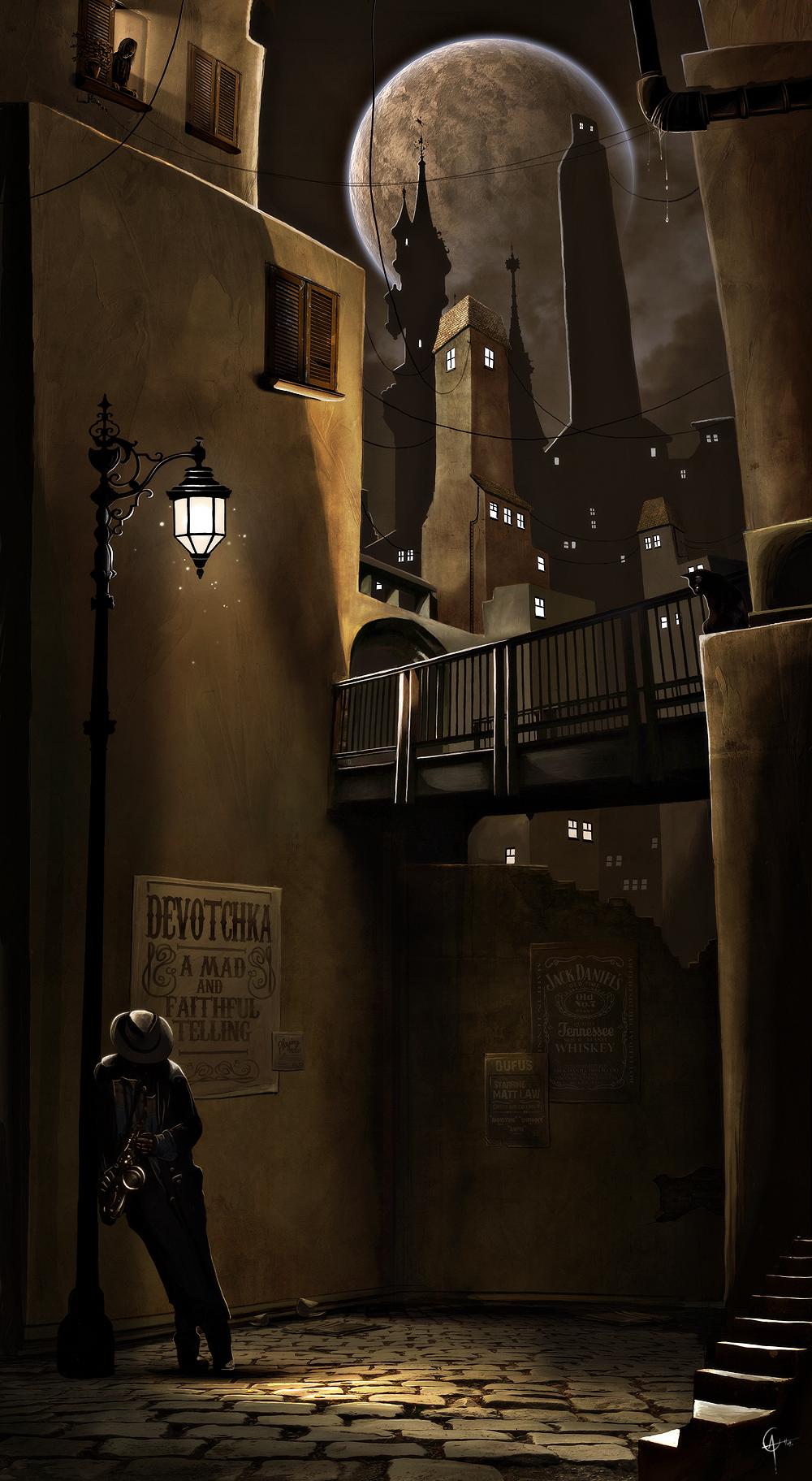 Straat Muzikant by AlexanderCasteels