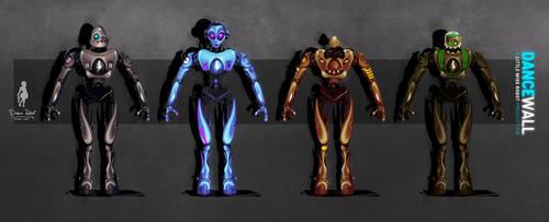 Dance Robot Characters by AlexanderCasteels