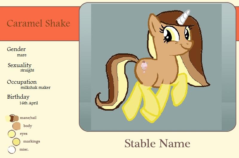 Meet Caramel Shake by AstieBean