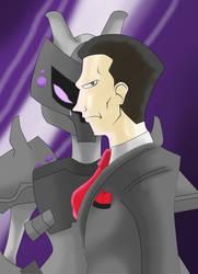 Giovanni e Mewtwo by drakonos85