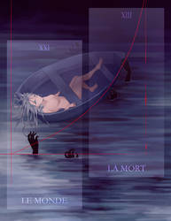 Tarot the World + the Death by LightyOle