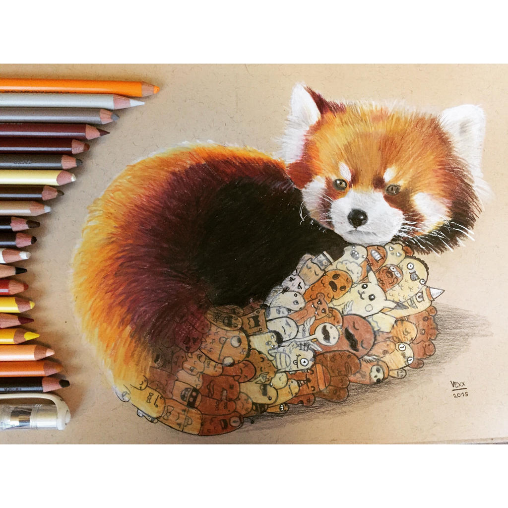 Red Panda Doodle by VinceOkerman