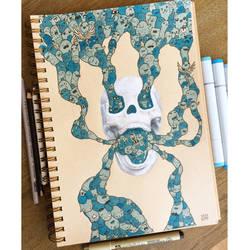 Skull doodle by VinceOkerman