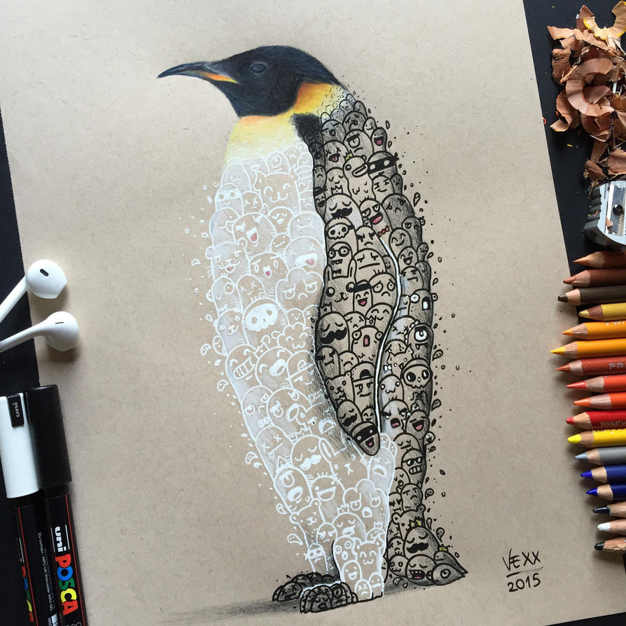 Penguin Doodle Art By Vinceokerman On Deviantart