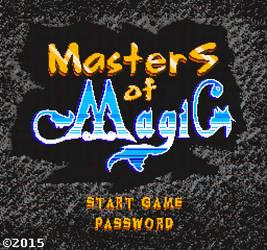 MasterS of MagiC NES Pixel-art Logo Design