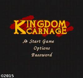 Kingdom Carnage NES Pixel-art Logo Design