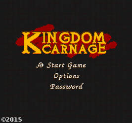 Kingdom Carnage NES Pixel-art Logo Design by UberVestigium
