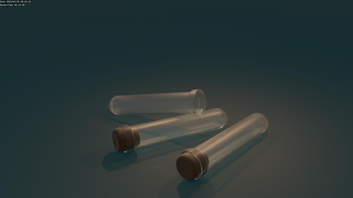 Test Tube High Poly Render by UberVestigium