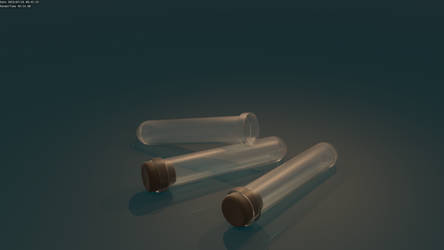 Test Tube High Poly Render by UberVestigium