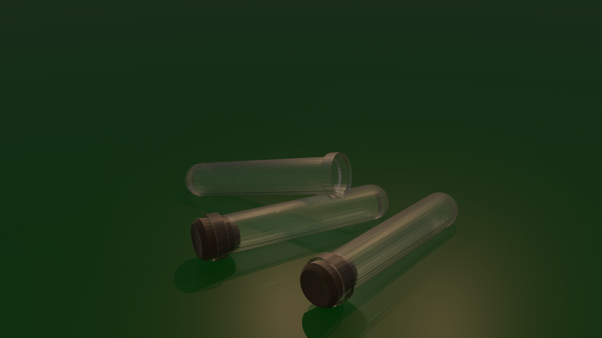 Test Tube Low Poly Render by UberVestigium