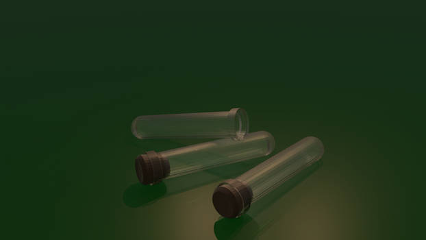 Test Tube Low Poly Render