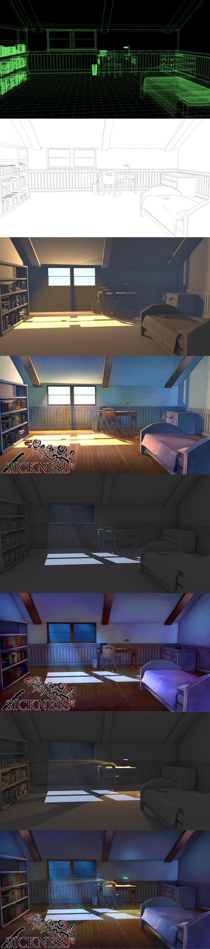 Lucia's Bedroom by UberVestigium