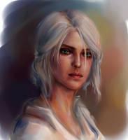 Ciri sketch by AnnaHelme