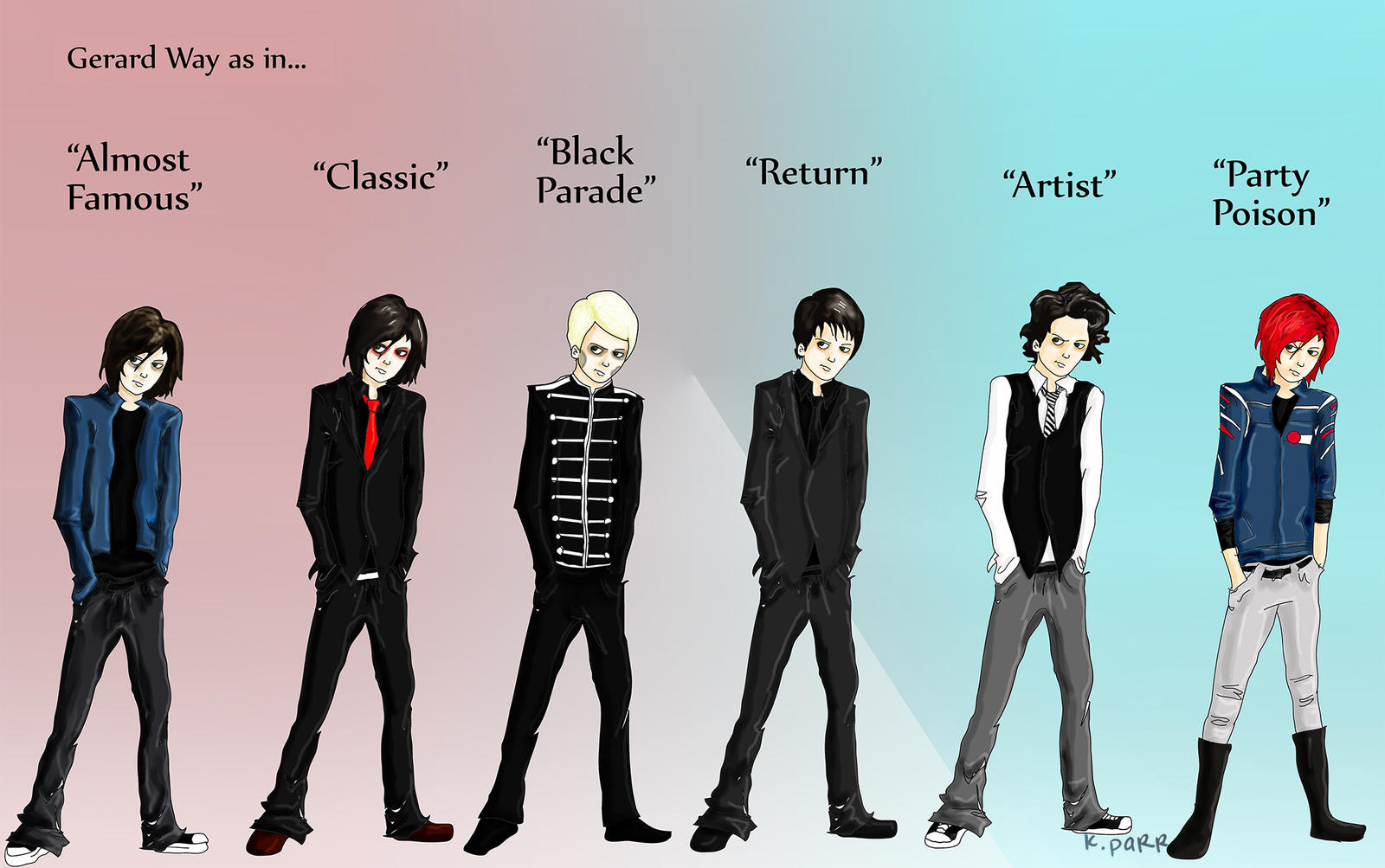 Evolution of Gerard by stylistic-division on DeviantArt