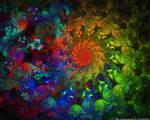 Multicoloured Spiral Pinwheel