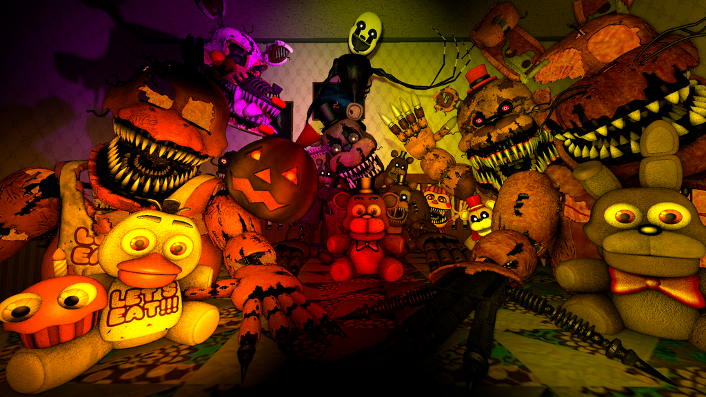 Five Nights At Freddy's 4 Halloween edition by danisaurio01 on ...