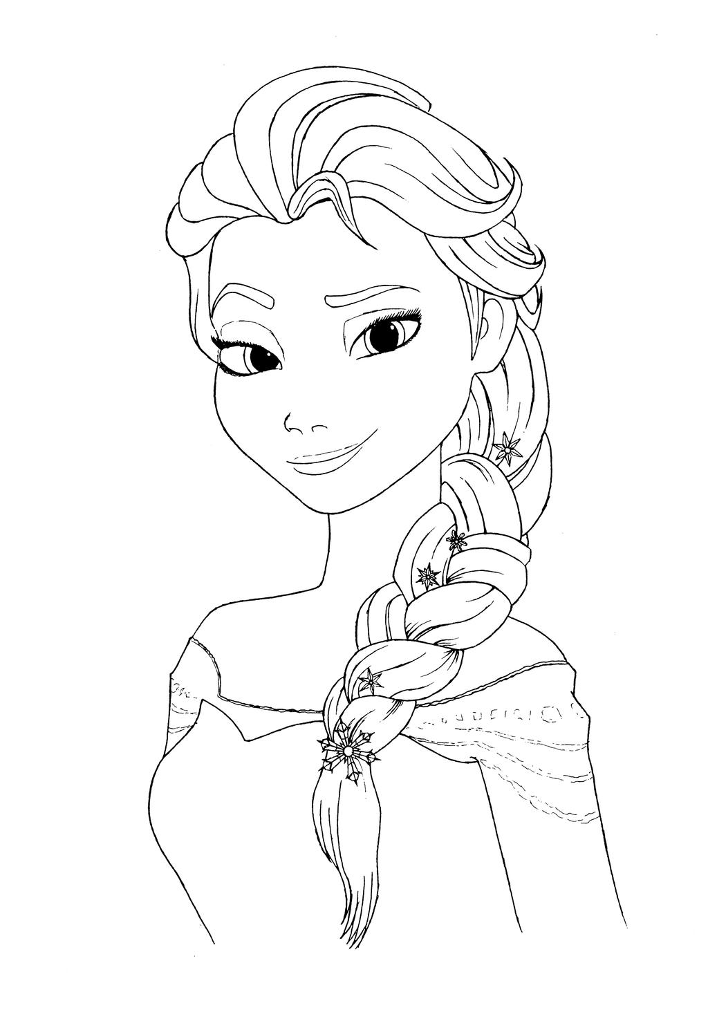 Elsa coloring page by Mortusk on DeviantArt