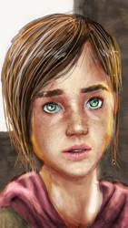 Ellie (phone drawing 01) by Mortusk