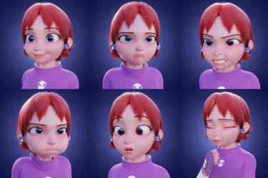 Hamari facial expressions
