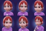 Hamari facial expressions by Mortusk