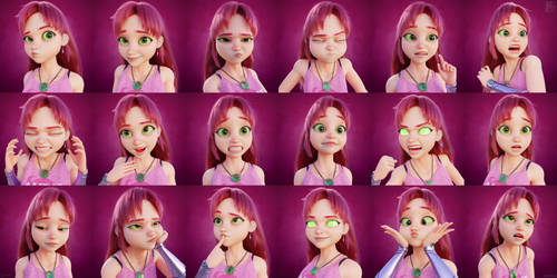 Starfire facial expressions by Mortusk