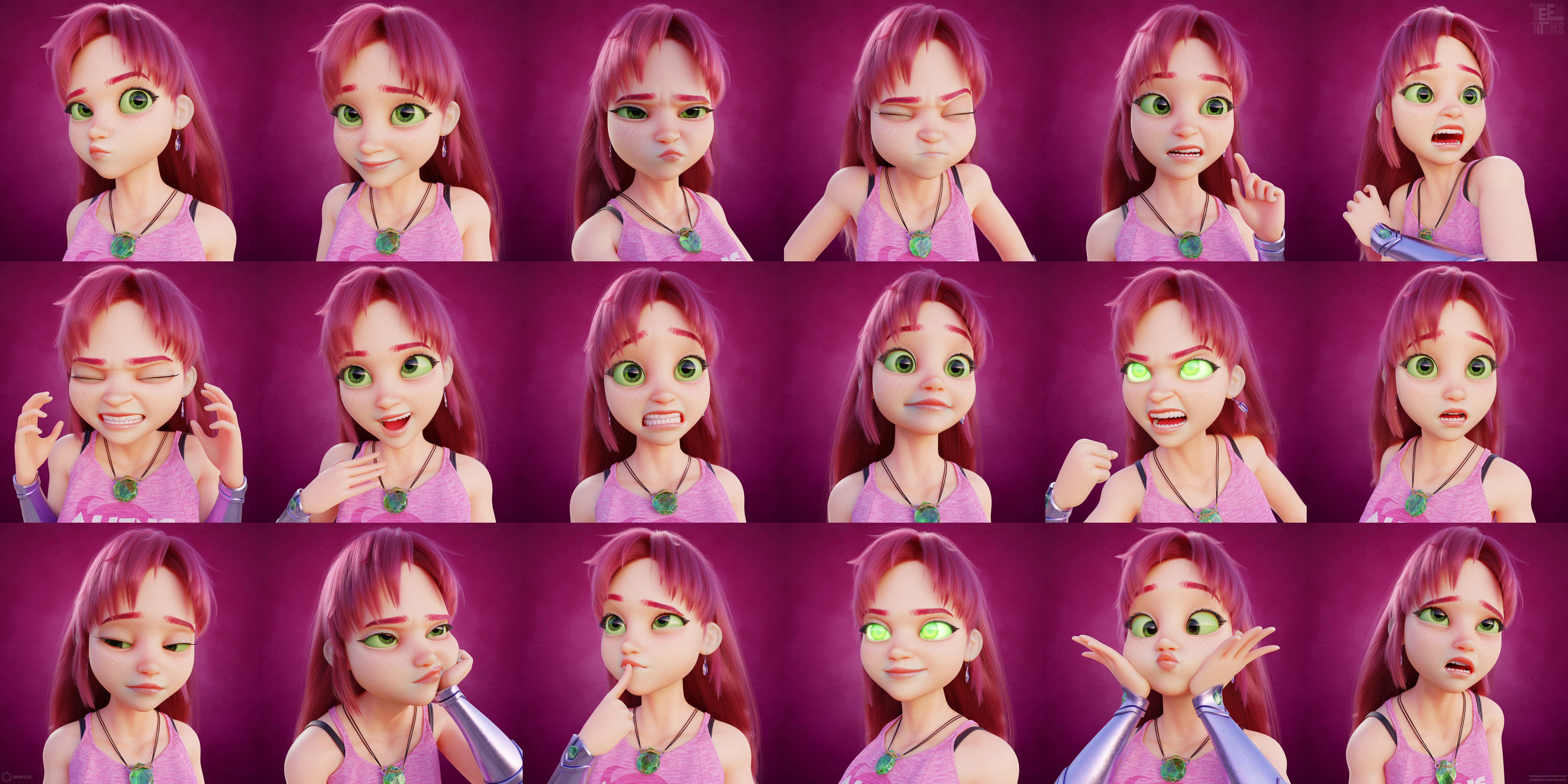 Starfire facial expressions