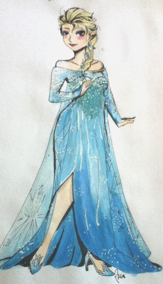 Elsa Watercolor Sketch dump by Kasugaxoxo
