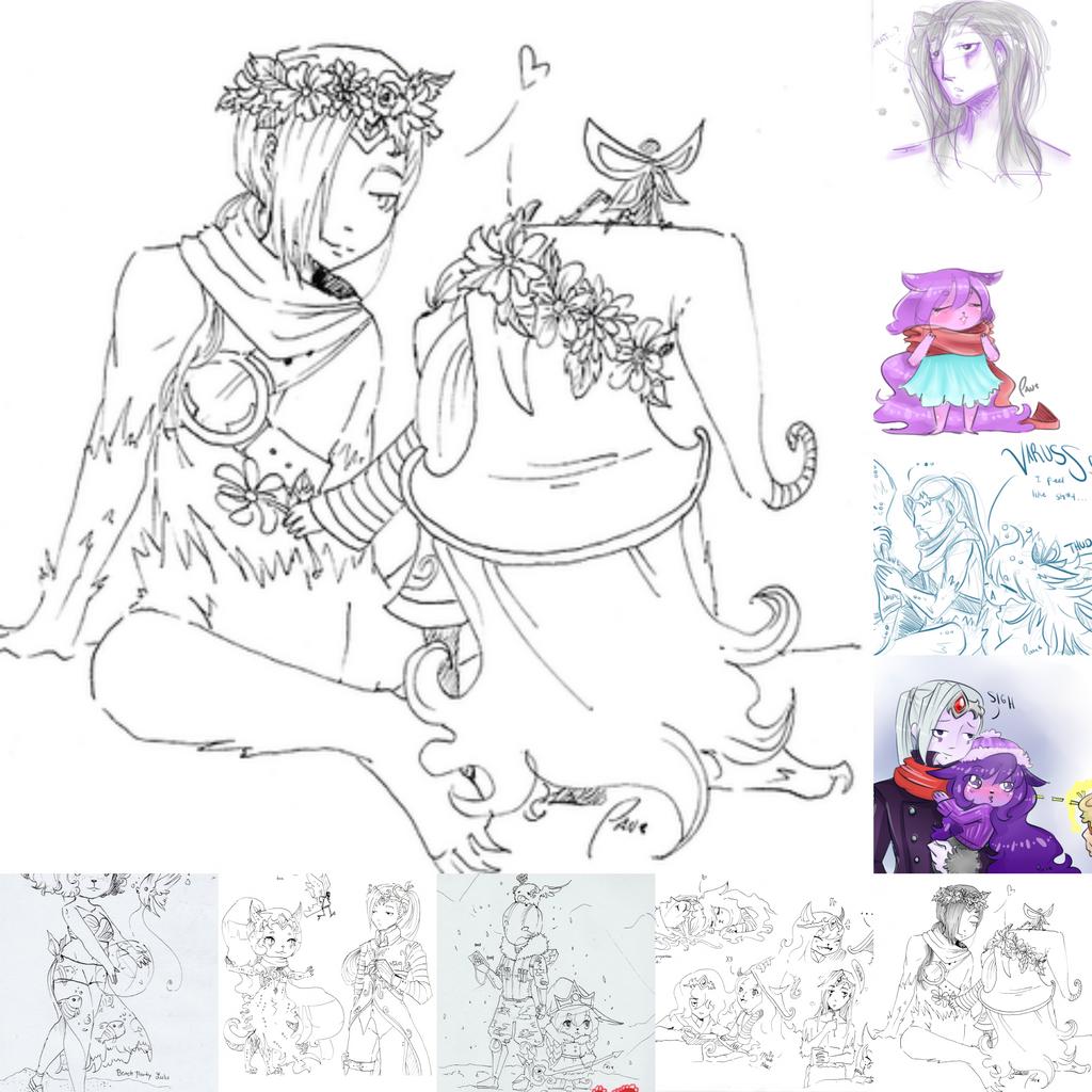 Varus And Lulu Collage - Doodle Varus...