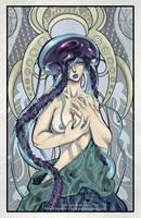 Art Noveau Medusa by Ferenand