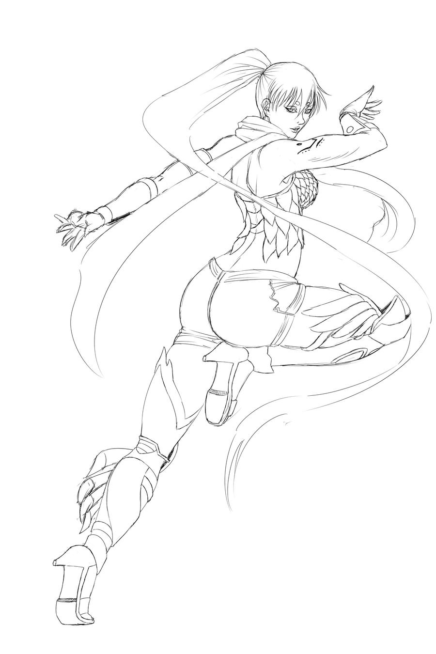 Yuzuriha Sketch by Ferenand
