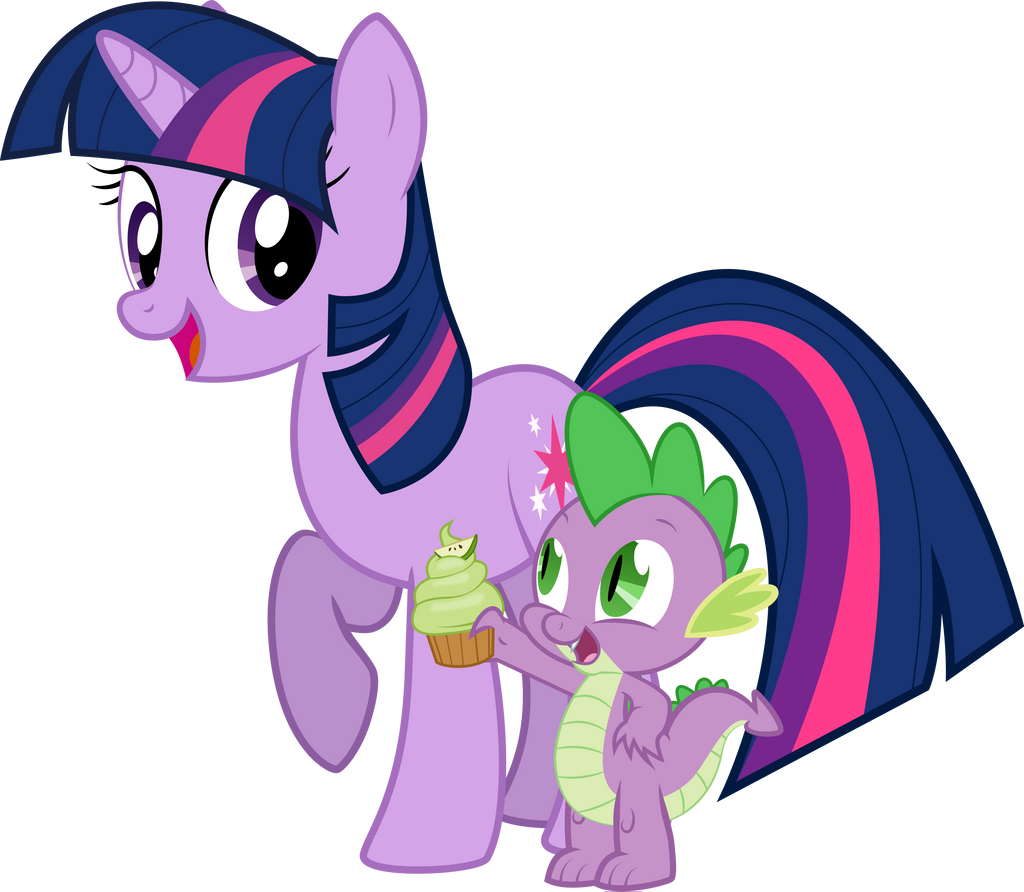 Twilight and spike by rainbownspeedash