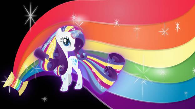 Rarity-rainbow-power Wallpaper