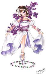 Lilac Ballerina by vulpixfairy