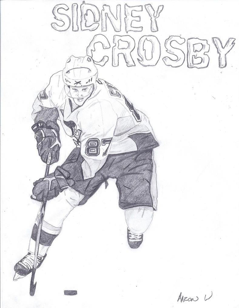 Sidney Crosbey Free Coloring