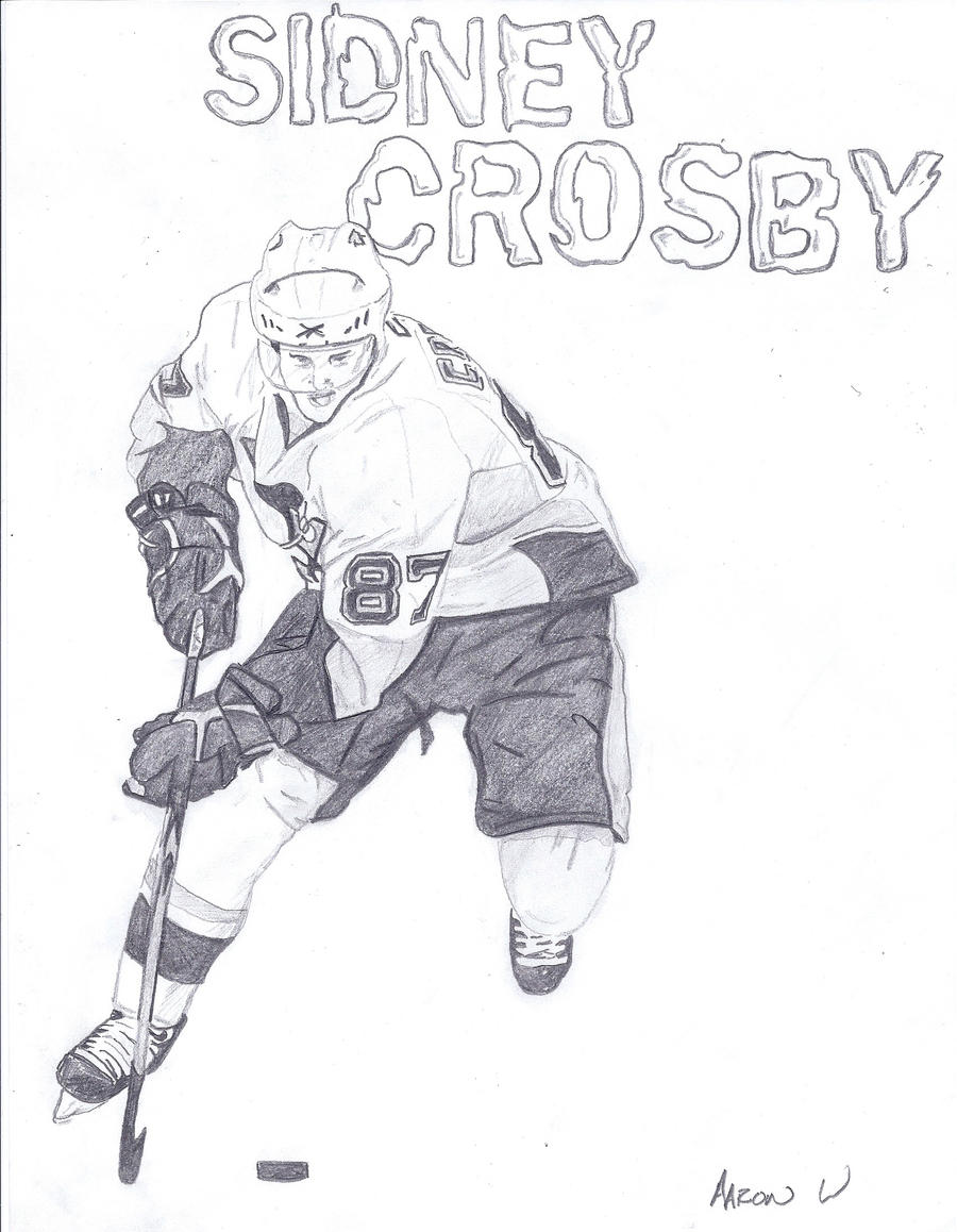 Sidney crosby free colouring pages for Pittsburgh penguins coloring pages