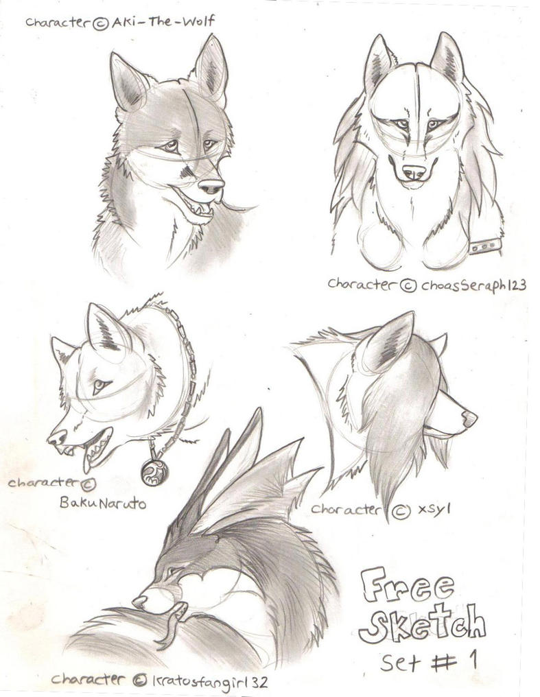 Free sketches set 1 by fallenangelwolf13 on deviantart for Sketch online free