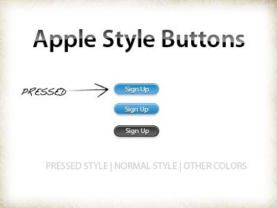 Apple buttons style - PSD by xatDefect