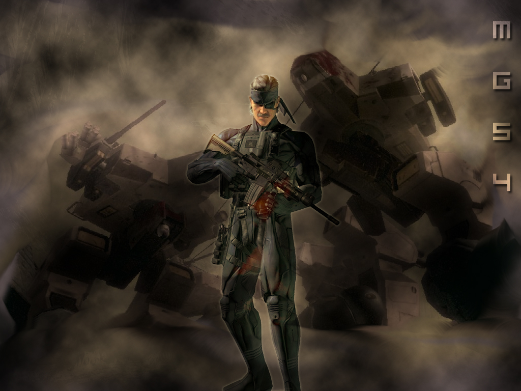 Metal Gear Solid 4 Wallpaper By Gatman0624 On Deviantart