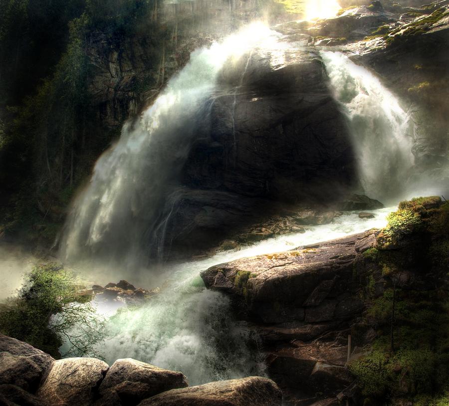 Waterfall STOCK by peachesrox-stock