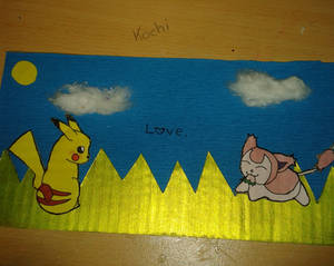 Arts and Crafts - Skitty loves Pikachu