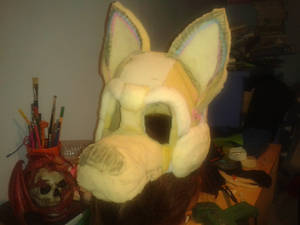 My first fursuit, almost done