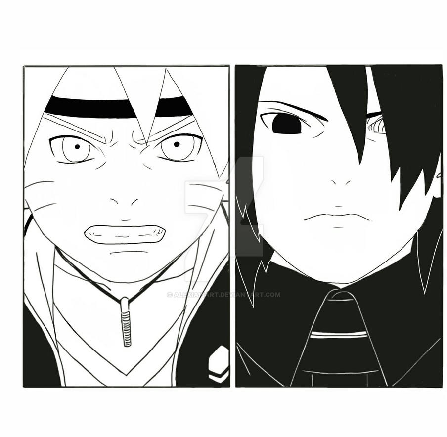 Boruto Manga Reddit: Manga Redrawing By Alexiaisart On