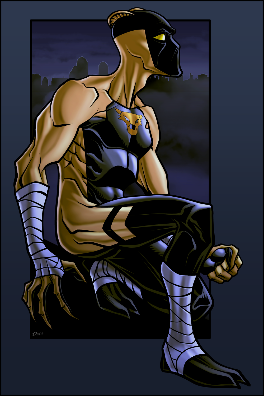 Midnight Tiger by dwaynebiddixart