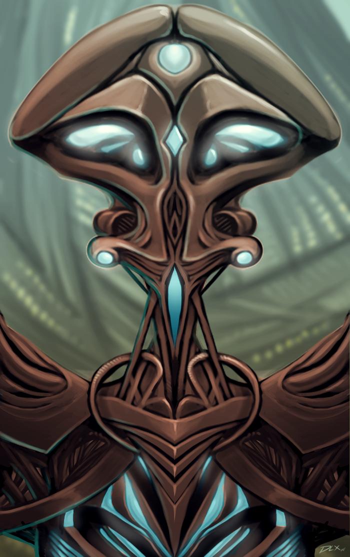 Quick Alien Bot Sketch by dwaynebiddixart