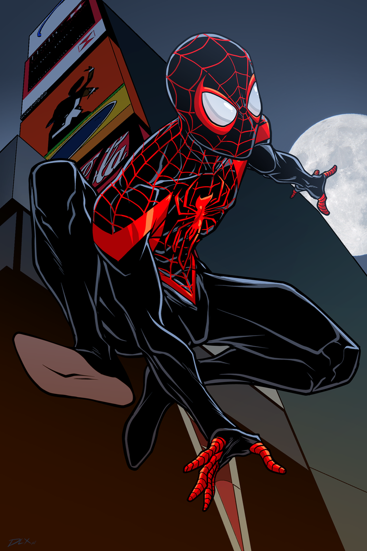 Spider-Man Miles Morales by dwaynebiddixart