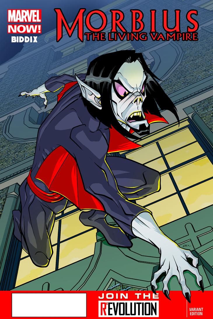 Morbius the living vampire by dwaynebiddixart